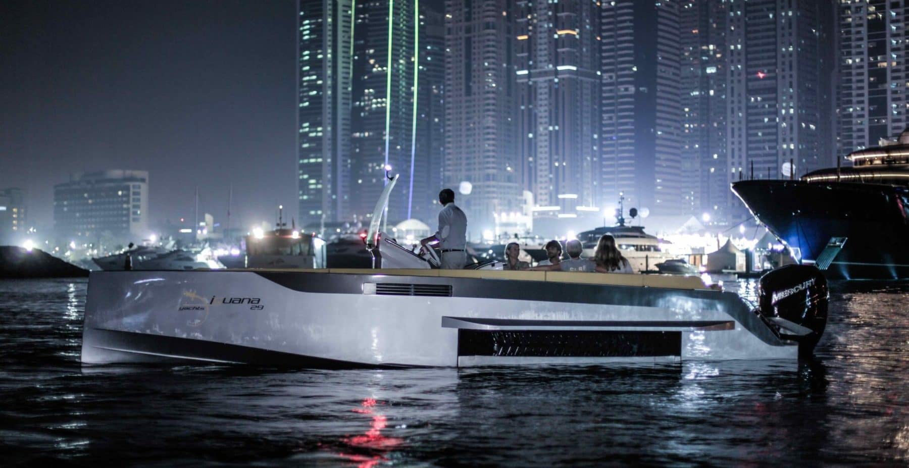Night sailing aboard the Iguana Original in Dubai
