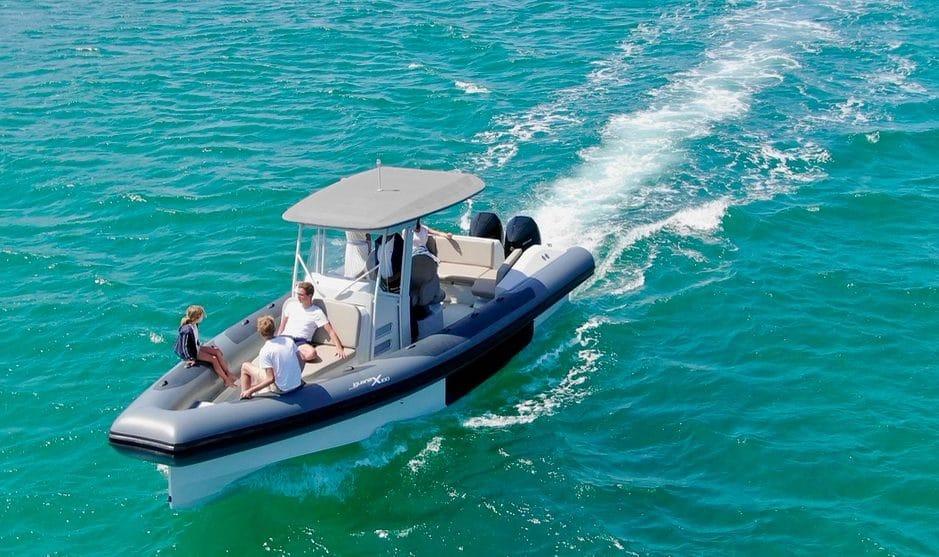 The Iguana RIB X100 at sea