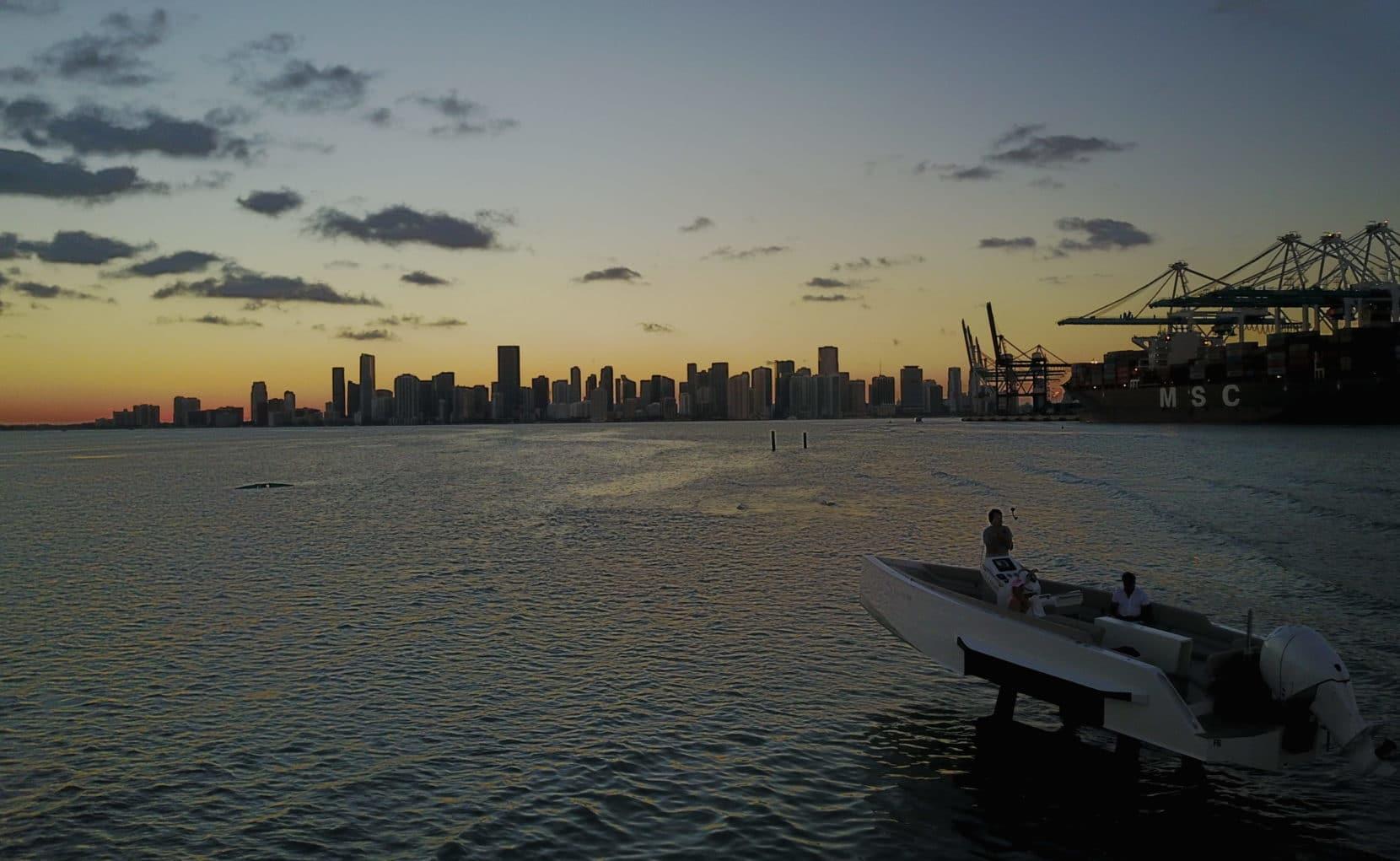 Sunset aboard the Iguana Original