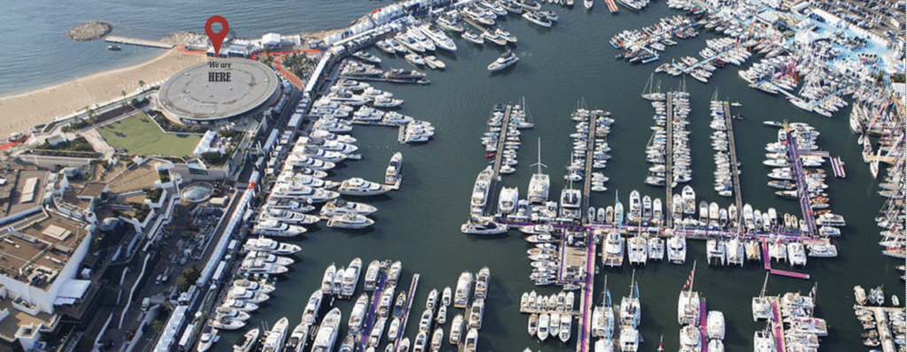 Cannes Yachting Festival map Iguana Yachts booth