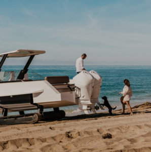 Beach launch of the Iguana Original
