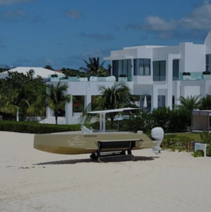 Beachfront property with an Iguana boat