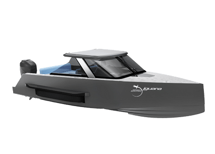 High-tech and resistant Iguana Commuter amphibious boat