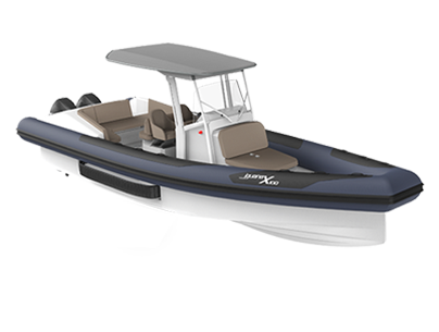 Functional amphibious black and white boat Iguana X100