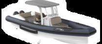 Functional amphibious black and white boat Iguana X100